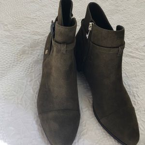 BRAND NEW Ivanka Trump olive suede booties